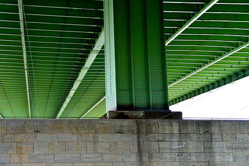 Bridge Piers, Highway Bridge, Steel Beams, Pillar