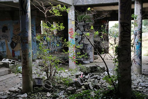 Abandoned, House, Graffiti, Urbex, Pirou, Rurex, Plant