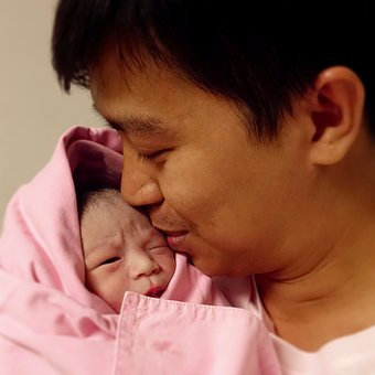 Caressing, Baby, Reborn, Kids, A New Life, My Dad, Love