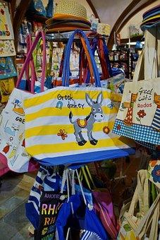 Bag, Handbags, Souvenir, Rhodes, Sale, Shop, Stand