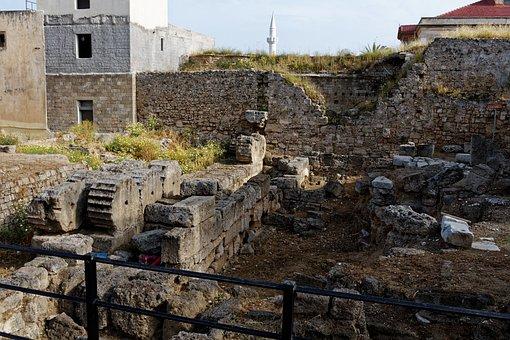 Greece, Rhodes, Stone, Ruin, Antique, History