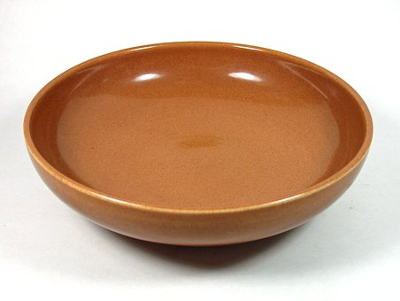 Russel Wright, Iroquois China, Pottery, Nutmeg, 8 Bowl