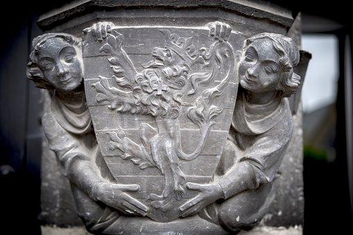 Art, Sculpture, Stone Carving, Bruges