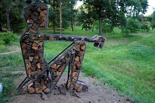 Man Of Wood, Art, Sitting, Create, Logstorage, Storage