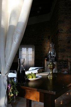 Window, Wine, Fruit, Book, Reading, Studio, Books