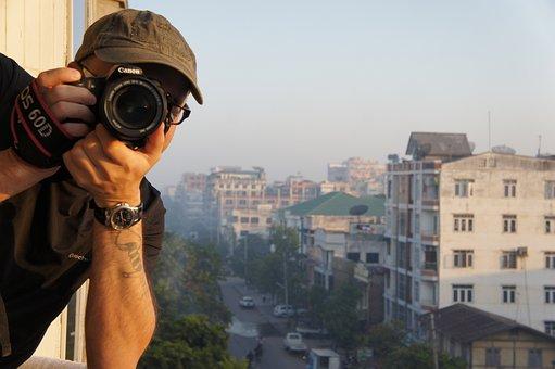 Photographer, Photo, Take A Snapshot, Asia, Camera