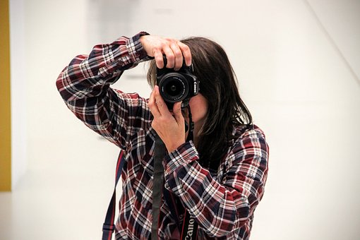 Photographer, Take A Snapshot, Photograph, Pose, Female