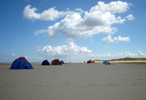 Beach, Camping, Tent, Camp, North Sea, Borkum