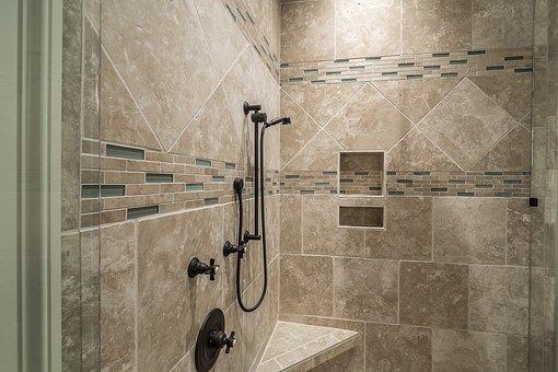 Shower, Tile, Bathroom, Interior, Luxury, Decor, Modern