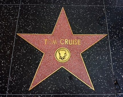 Star, Tom Cruise, Actor, Gold, Golden, Decoration