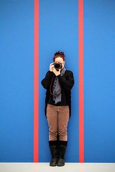 Photographer, Horizontal Stripes, Background, Wallpaper