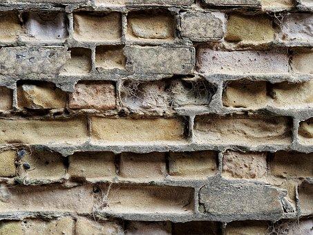 Brick, Erosion, Brickwork, Eroded, Weathered, Wall