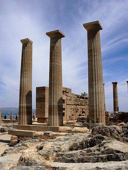 Acropolis, Rhodes, Lindos, White City, Old, Ruin