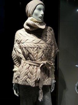 Display Dummy, Knitwear, Wool, Sweater, Doll, White