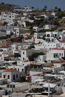 Rhodes, Island, City, White, Sea, Holiday, Greek Island