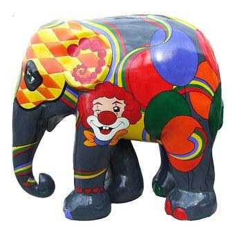 Elephant Parade Trier, Colourful Elephant, Art