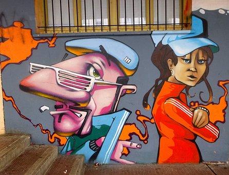 Graffiti, Barañain, Artwork, Art, Artistic, Spray Paint