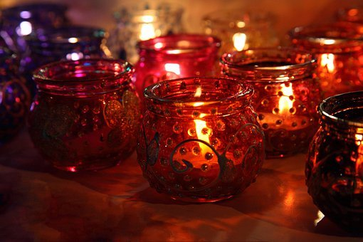 Art, Asian, Lit, Bright, Candle, Colored, Colorful