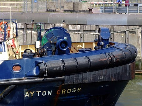Ayton Cross, Bow, Tugboat, Vessel, Detail, Transport