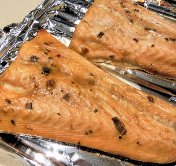 Salmon, Marinated, Fish, Herbs, Spices, Baked, Food