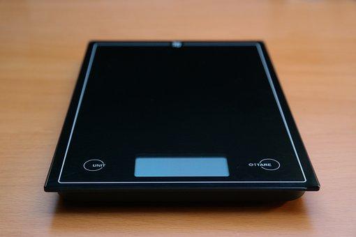 Horizontal, Kitchen Scale, Black, Budget