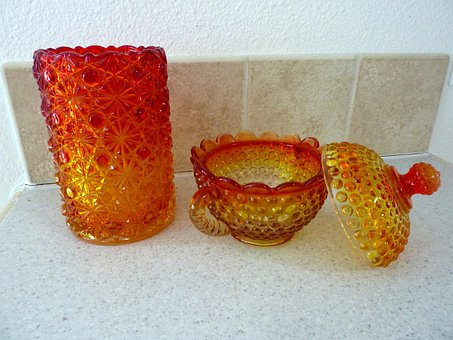 Candy Bowl, Glassware, Carnival Glass, Bowl, Decoration