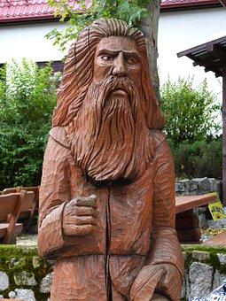 Rübezahl, Carving, Sculpture, Wang, Poland