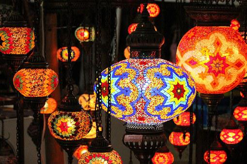 Lamp, Art, Crafts, Colors, Color, Craft Products