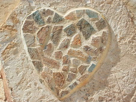 Art, Decoration, Heart, Love, Mosaic, Nature, Rock
