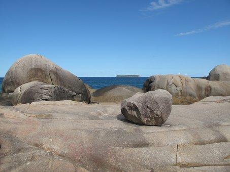 Rocks, Sea, Coastline, Rocky Shore Line, Ecology