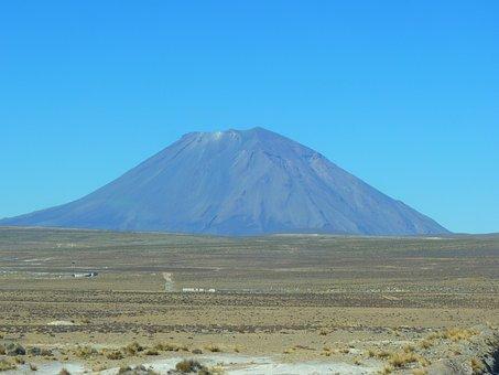 Volcano, El Misti, Peru, Arequipa, Landmark, Mountain