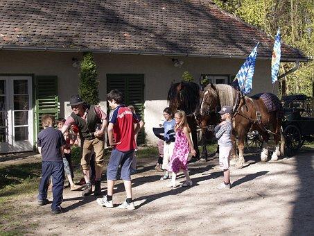 Beer Garden, Event, Brewing Horses, Stone Building
