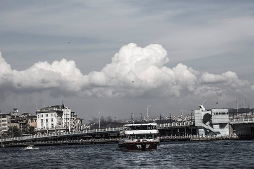 Galata, Galata Bridge, V, Cloud, Marine, Art, Sky