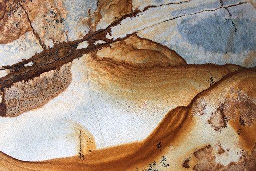 Granite, Background, Texture, Blue, Brown, Beige, Veins
