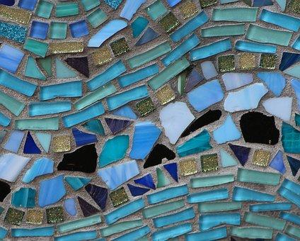 Mosiac, Colored Glass, Stone, Art, Pattern, Grout