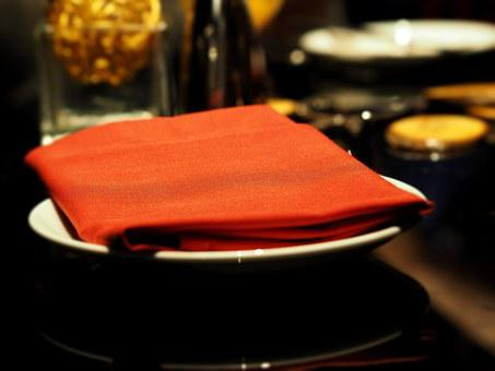 Napkins, Handkerchief, Hand Towel, Red
