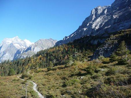 Eigertrail, Bernese Oberland, Autumn, Hiking, Alpine