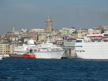 Istanbul, Turkey, Bosphorus, Marmara, Marmameer, Ship