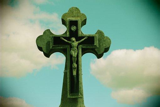 Cross, Jesus, Christian Work Of Art, Christ, Sky, Faith