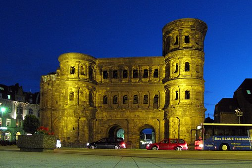 Trier, Abendstimmung, Kirchplatz, Night, Porta Nigra