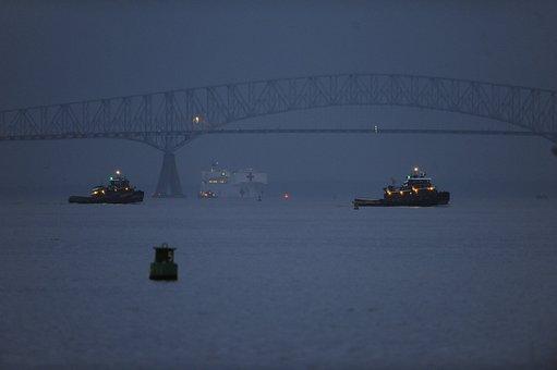 Baltimore, Maryland, Harbor, Bay, Port, Water, Fog