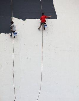 Whitewash, Graffiti, Master, Wall, Painting, Worker
