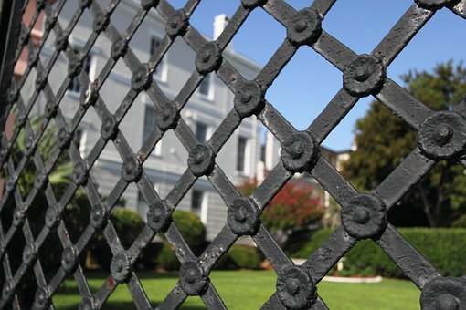 Iron Gate, Fence, Metal, Architecture, Security