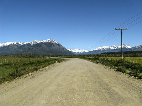 Road, Country Side, Roadway, Dirt Road, Mountains