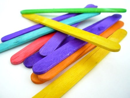 Popsicle Sticks, Sticks, Wood, Colorful, Arts, Craft