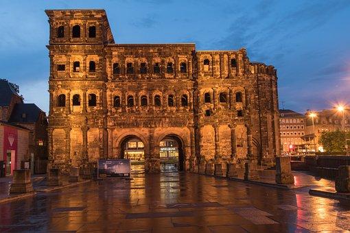 Trier, Porta Nigra, Abendstimmung, Roman, City Gate