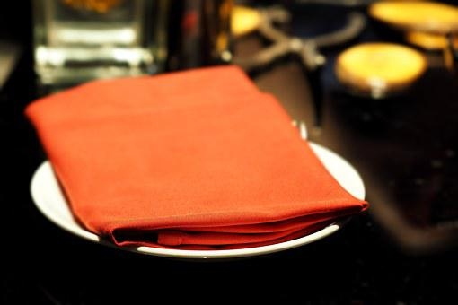 Napkins, Hand Towel, Red, Dining Table, Restaurant