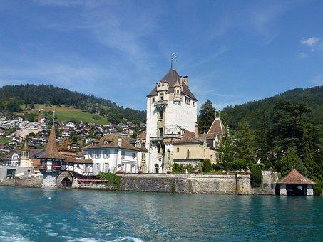 Schloss Oberhofen, Bernese Oberland, Lake, Scenic