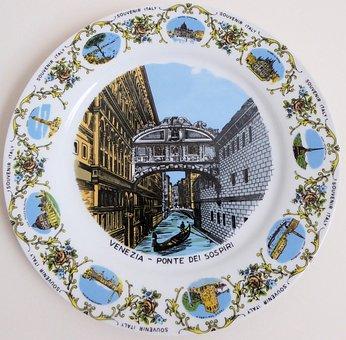 Venice Italy Plate, Souvinir, Painted, Art