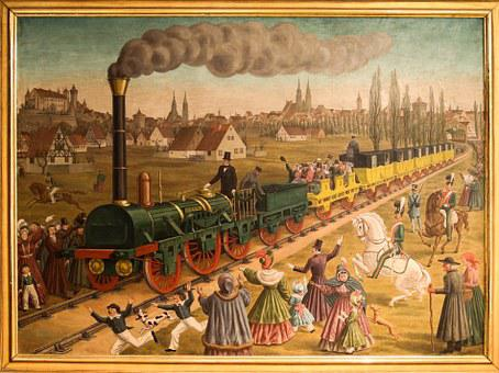 Travel, Adventure, Nuremberg, Fürth, Steam Locomotive